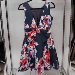 Kate Spade Floral Dress With Bow
